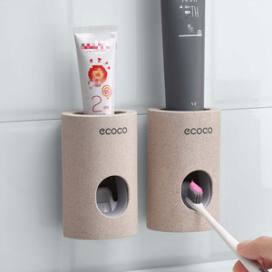 Automatic Toothpaste Dispenser non-toxic Wall hanger Mount Dust-Proof Toothpaste Squeezer quick take straw toothpaste rack home