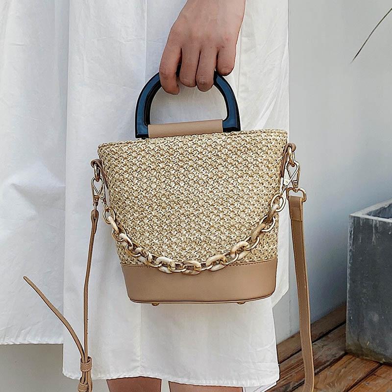Straw Handbags Summer Women Small Handbag Ladies Shoulder Bag Rattan Bags Beach Crossbody Totes Bag For Travel