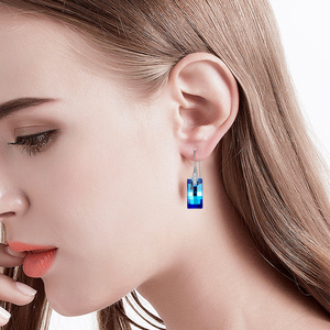 Image 2 - Malanda boucles doreilles cristaux de Swarovski, pendentifs urbains pour femmes, en argent Sterling, Piercing, pendentifs, mode