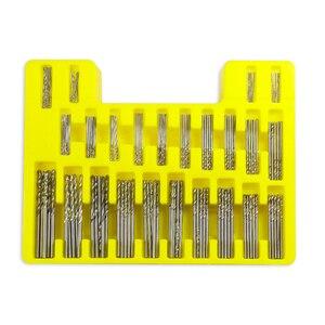 Image 2 - 150 PCS HSS Twist Drill Bit Size 0.4mm 3.2mm Metalworking Drill Bit Set Round Shank Mini Drill Bit