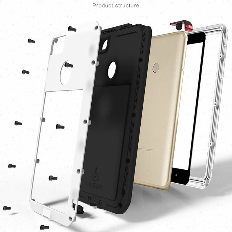 Metal Case For Xiaomi Mi Max 2 Case 3 Armor Full Body Protective Cover Shockproof Xiaomi Mi Max 3 Case Xiaomi Mi Max2 Cases Max3