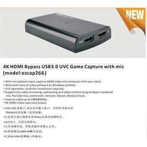 Image 2 - 4 18k 1080 1080p hdmiループアウト電話ゲームキャプチャカードusb 3.0マイクビデオ録画ボックスPS4 hdカメラスイッチpcライブストリーミングプレート