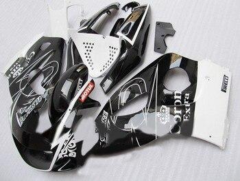 Kit de carenado para GSXR600 750 96 97 98 99 00 GSXR600 GSXR750 1996 1999 2000, juego de carenados blancos y negros + regalos DF04