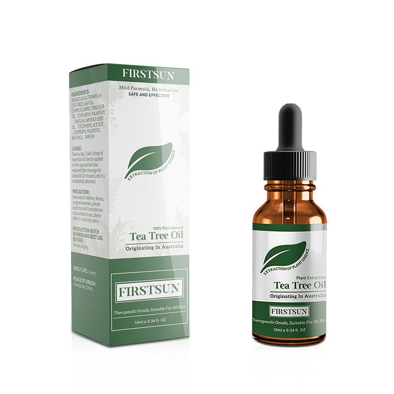 Tea Tree Essential Oil Moisturizing Massage Oil Control Fade Acne Marks Shrink Pores Repair Moisturizing Skin Care Essence TSLM1