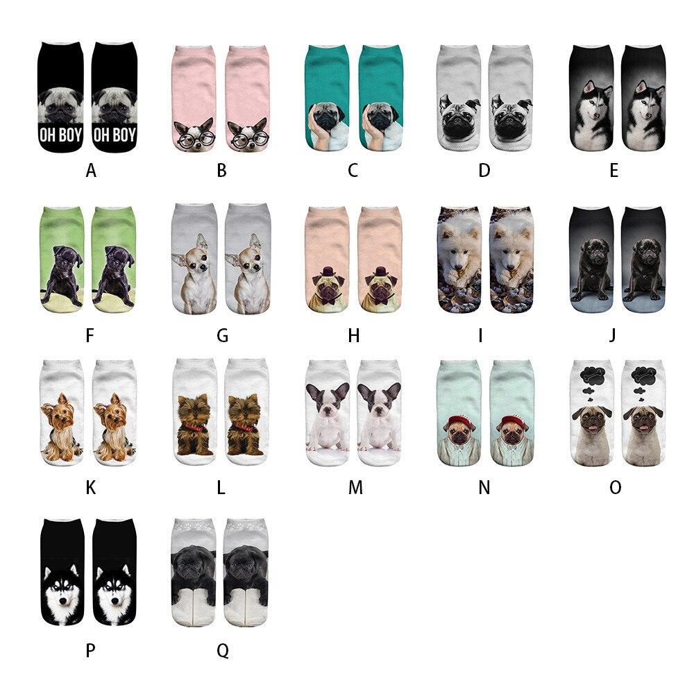 Women Men Girls Boys Teens Socks Unisex Short Cotton Socks Dog Cats Pets Funny Printed Anklet Socks Casual Soft And Comfortable