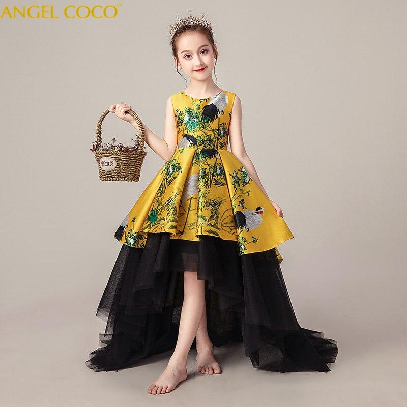 Costume robe de soirée filles enfants mariage princesse fête enfants luxe robes de bal Boutique Vintage Costume de princesse pour les enfants