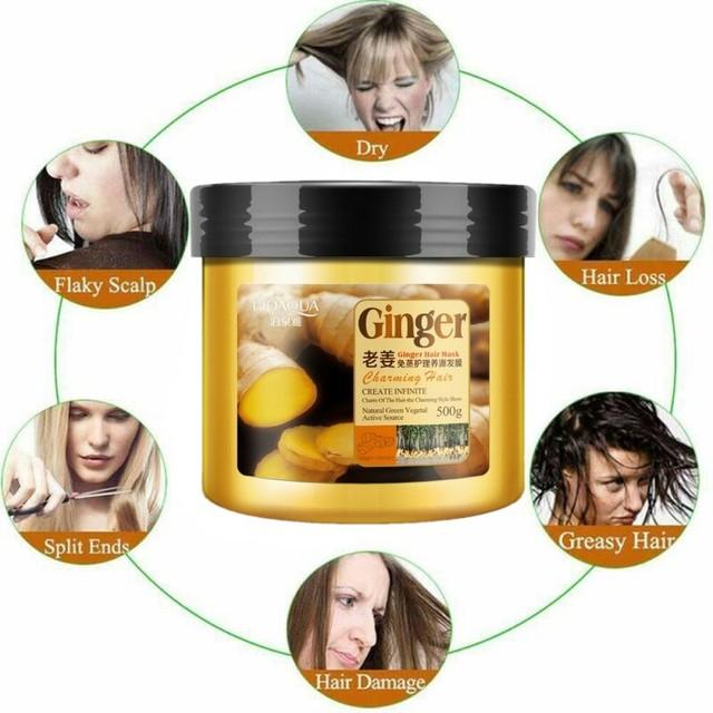 Natural Ginger Hair Mask Moisturizing Deep Repair Hair Frizz Conditioner