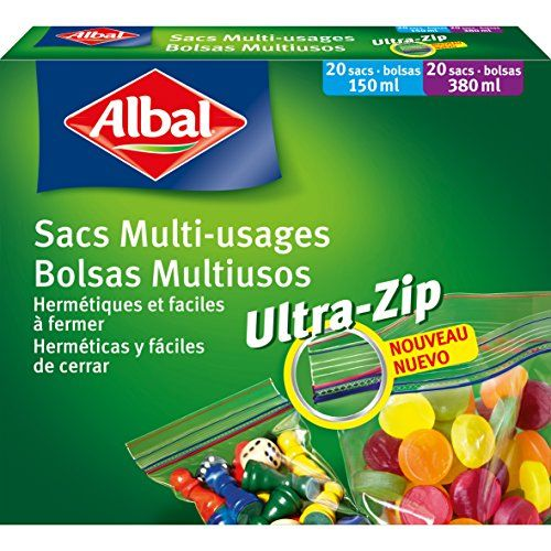 Albal Micro Aroma 4008871202017 Ziploc Bags - 2 Packs, Each Containing 20x 0.2 L And 20x 0.4 L Bags