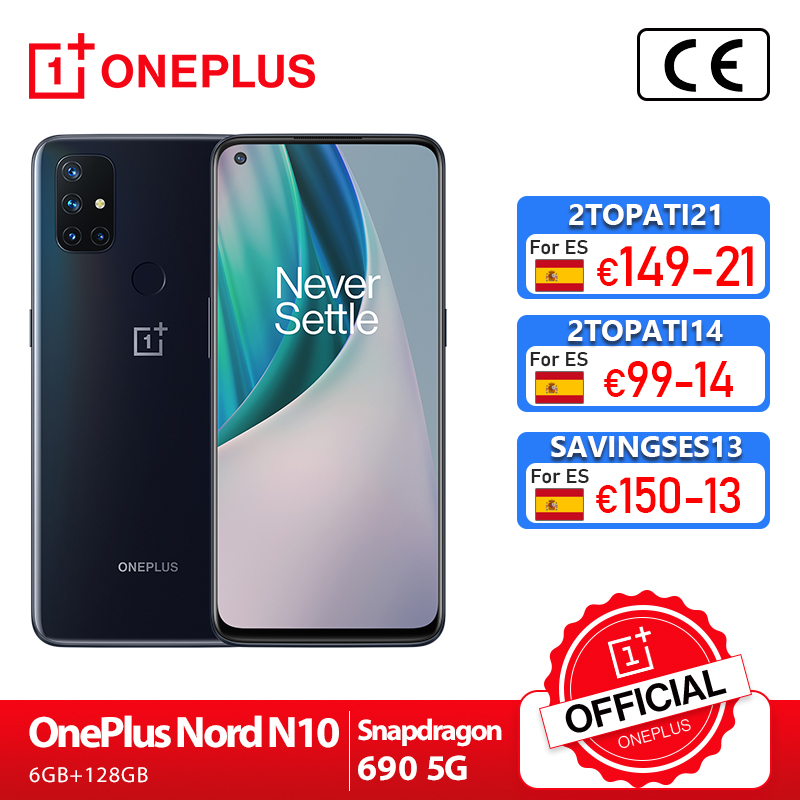 Global Version OnePlus Nord N10 5G Snapdragon 690 Smartphone 6GB 128GB 6.49 90Hz Display 64MP Quad Cams Warp Charge 30T 4300mAh Cellphones  - AliExpress