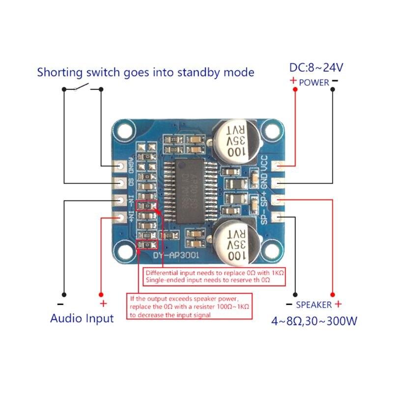 YDA138 DC12V 2A 2x15W Bluetooth Amplifier Module Digital Audio Board Class D Channel Power Amplifier For Yamaha|Ultrasonic Cleaner Parts| |  - title=