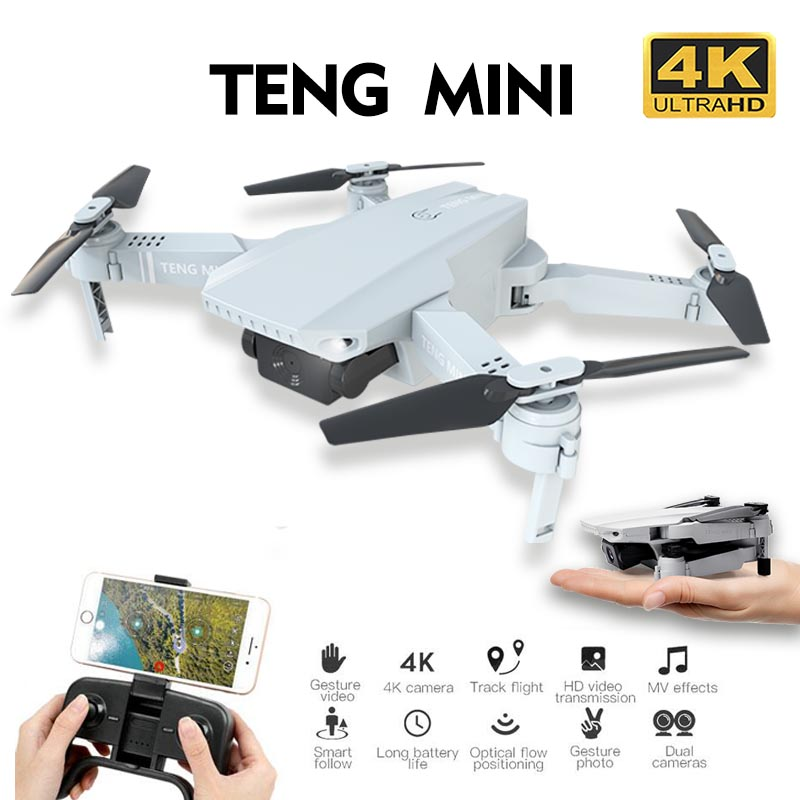 KF609 Drone 4K 720P HD Camera RC Mini Foldable Quadcopter WIFI FPV Selfie Optical Flow Quadcopter RC Helicopter Toy For Kids image