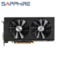 Видеокарты SAPPHIRE Radeon RX 480 4GB видеокарты GPU AMD RX480 4G видеокарты компьютерный ПК игровая карта HDMI PCI-E X16 видеокарта не майнит