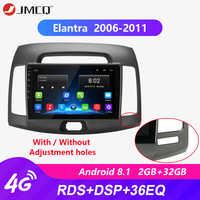 Android 8.1 2g + 32g 2din 4g rádio do carro reprodutor de vídeo multimídia para hyundai elantra 4 hd 2006-2010 navegação gps autostereo + quadro