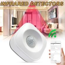 Akıllı kablosuz PIR hareket sensör dedektörü için uyumlu Google ev akıllı ev Alexa ev aydınlatma PIR anahtarı duyarlı gece L