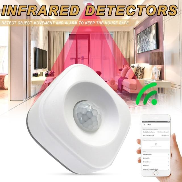 Inteligente sem fio pir sensor de movimento detector compatível para o google casa inteligente alexa casa iluminação pir interruptor sensível noite l