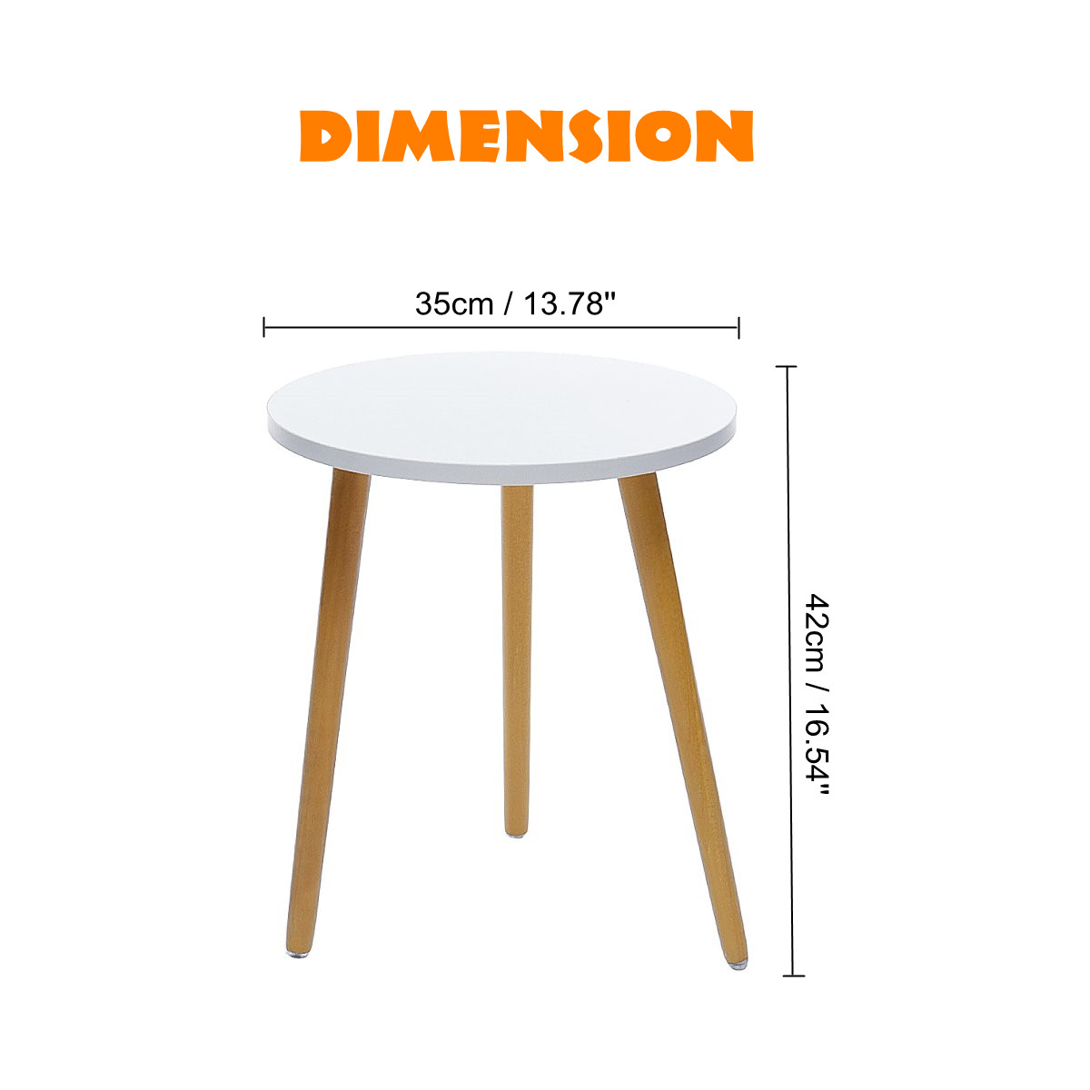 New Modern Wood Coffee Table Nordic Convenient Sofa Circular Practical Natural Tea Side Table Living Room Decoration 35 X 42 Cm Aliexpress