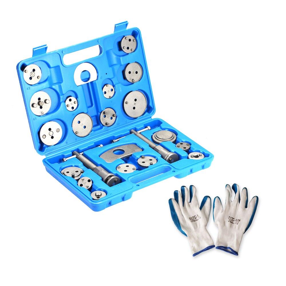 22 pièces en un ensemble frein à disque étrier pompe régulateur frein disque outil Kit voiture réparation outil étrier Piston outils ensemble outils à main