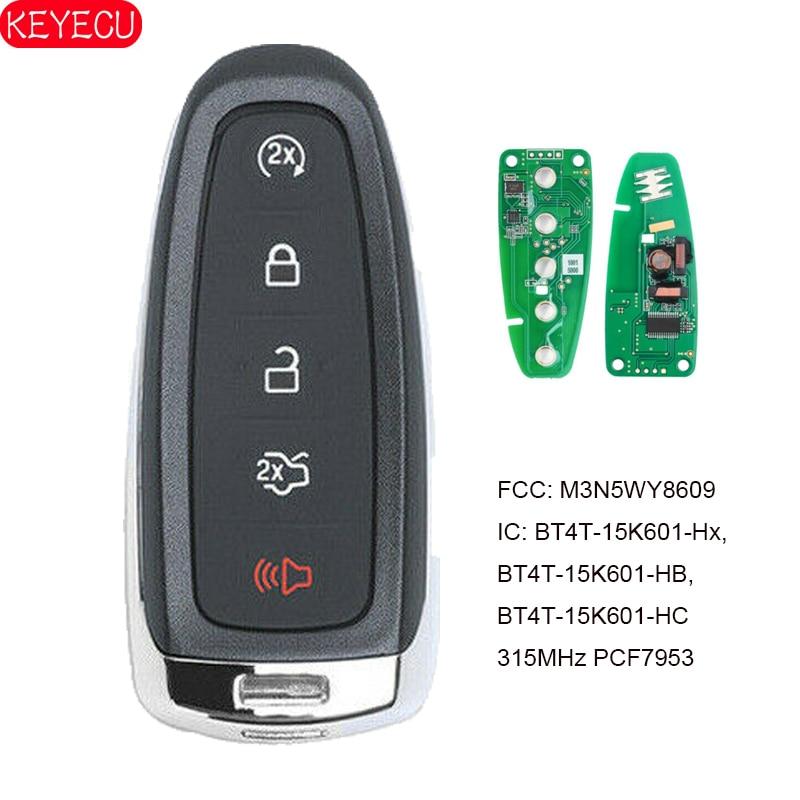 Keyecu para ford edge explorer escape flex foco taurus chave remota inteligente 315mhz fob m3n5wy8609 BT4T-15K601-Hx