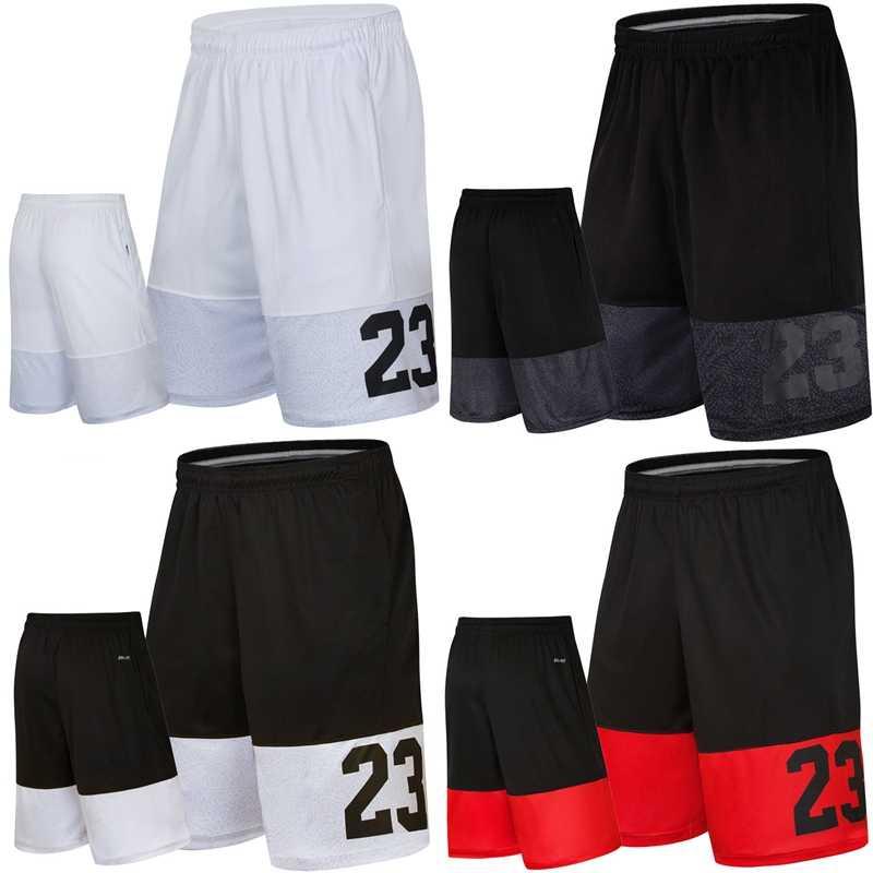 คุณภาพ Breathable DRY Fit Man กระเป๋าหลวมชายเข่าความยาวหมายเลข 23 ฤดูร้อนผู้ชายห้ากีฬาบาสเกตบอลกางเกงขาสั้น