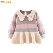 VFOCHI New Baby Girl Dresses Spring Autumn Casual Girls Clothes Long Sleeve Baby Girls Sweater Dress Kids Dresses For Girls 0-3Y baby girl clothes pretty girls dress lovely floral print long sleeve flower kids dress princess dresses spring autumn 2 colors