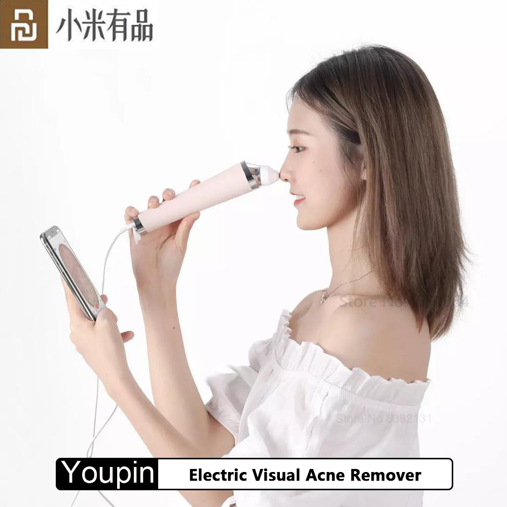 Youpin Electric Visual Acne Remover Blackhead Vacuum Suction Pore Cleaner Skin Care Facial Pore Cleaner Machine For Men Women
