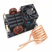 1000 w 50a zvs placa de aquecimento por indução de alta frequência módulo aquecedor DC12-40V com bobina