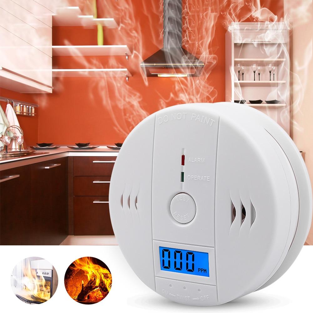 CO Detector Sensor de Gas de monóxido de carbono y de detectores de humo combinación advertencia envenenamiento por Gas de pantalla LCD de alta sensibilidad