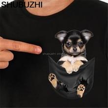 Chihuahua Inside Black Pocket T Shirt Dog Lovers Black Cotton Men S-6XL HOTCartoon t shirt men Unisex New Fashion sbz6093