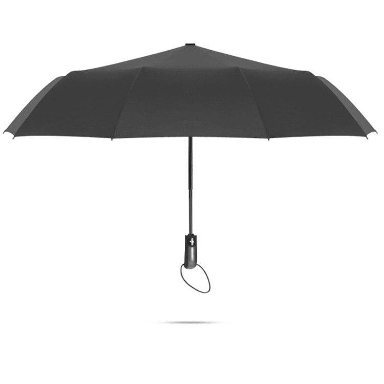 Triple Automatic Umbrella 10 Bone Plain Color Folding Umbrella Fully Automatic Umbrella Customizable Business Gift Umbrella Cust
