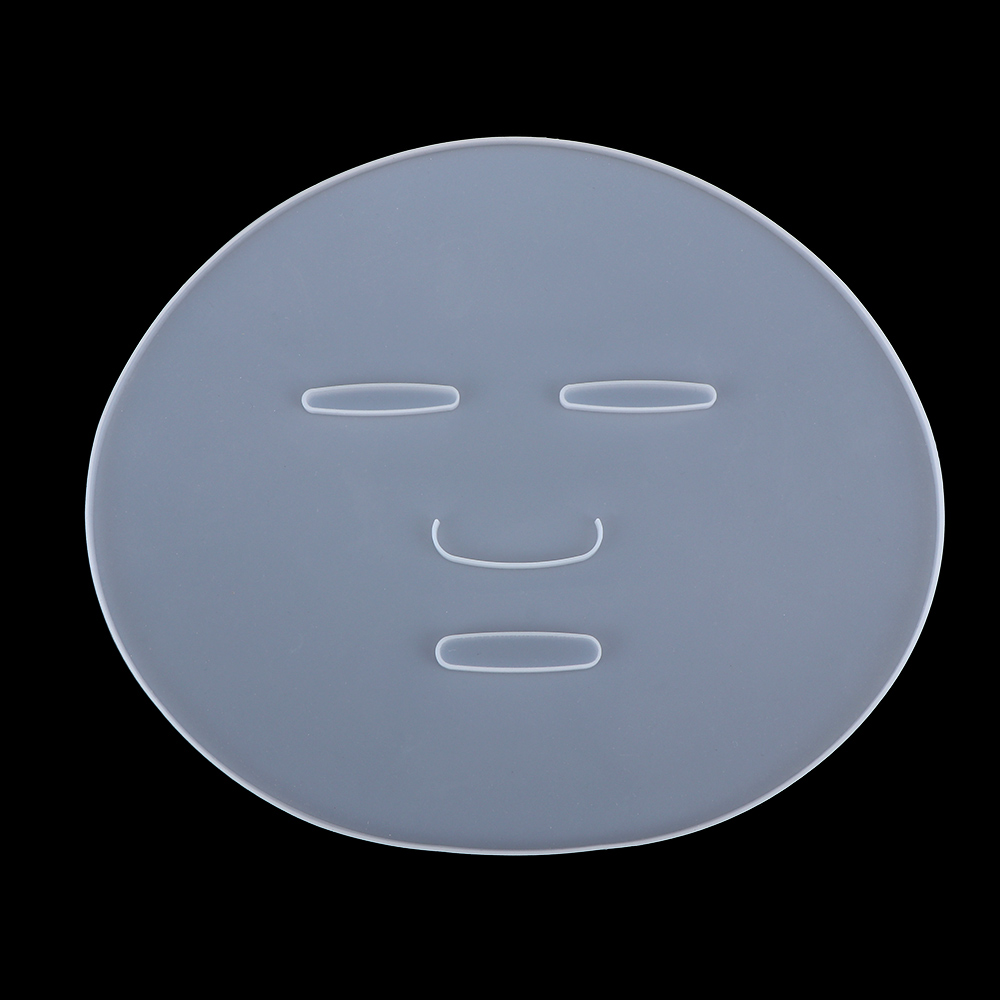 1pcs Reuseable Facial Mask Plate For Fruit Vegetable Mask Machine Maker Clear Silicone Mask Mold Tray Mask Making DIY Tool