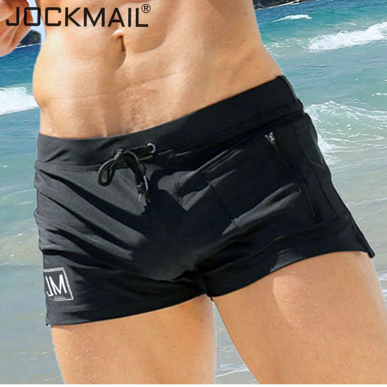 JOCKMAIL Swimwear Men Swimsuit Sexy Swimming Trunks Sunga Hot Mens Swim Briefs Beach Shorts Mayo Sungas De Praia Homens Gaypouch