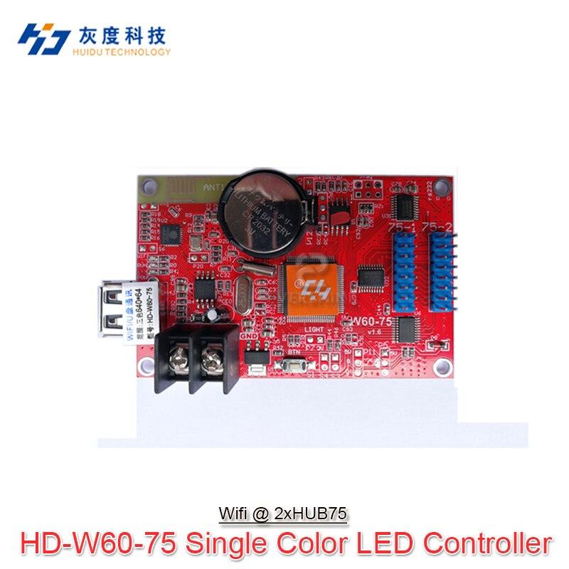 Graphic Series Control Card HD-U60+/HD-U62+/HD-E62+/HD-U60-75/HD-W60-75 Support RGB Full Color LED Module Screen Wifi Control