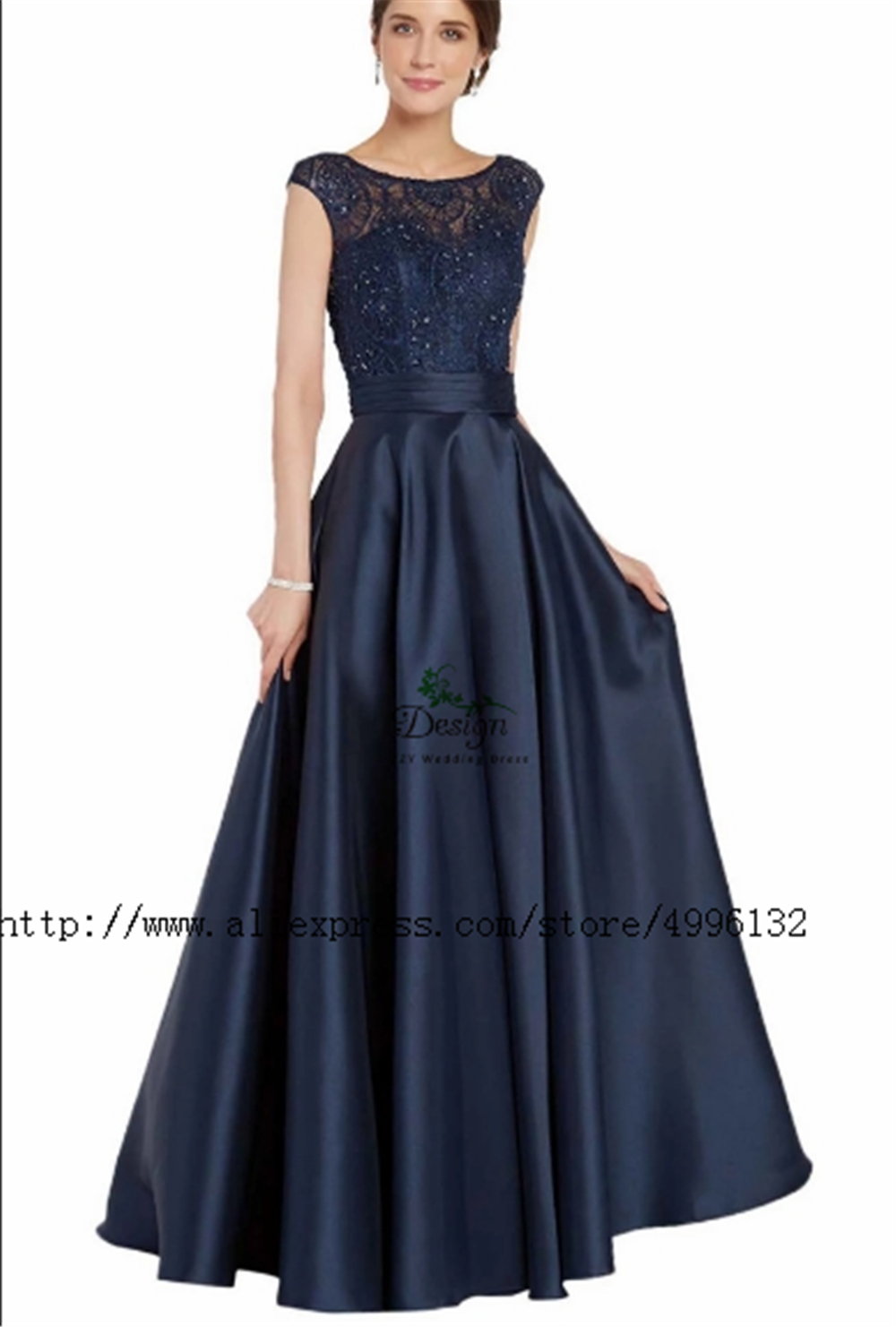 A-line Appliques Beading Chiffon Cap Sleeves Mother Of The Bridal Dresses Women's Dresses Party Dinner Grown Dress Bride