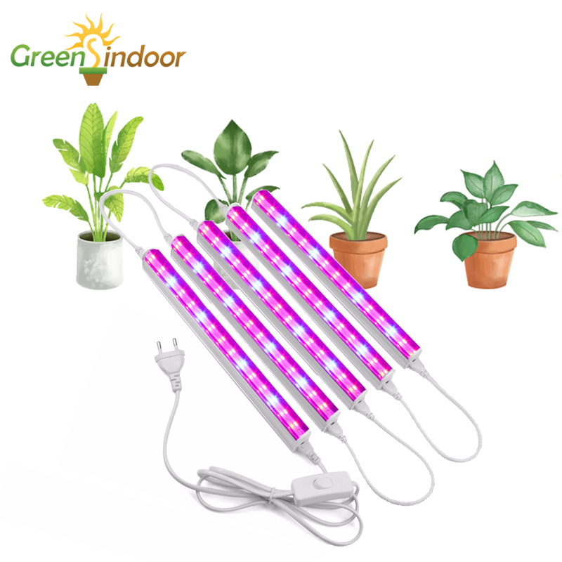 Indoor LED Grow Light Strips 5pcs Full Spectrum Phyto Lamp For Plants Growing Flowers Flowering Growth Led Succulents Seedlings