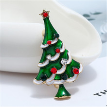 Christmas tree brooch exquisite versatile drop glaze diamonds Christmas gift jewelry new year clothes decoration accessories