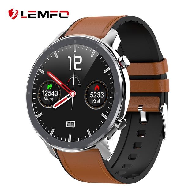 $ US $28.99 LEMFO 2020 New ECG Smart Watch Men 1.3 Inch HD Full Touch Screen IP68 Waterproof Heart Rate Monitor Smartwatch 60 Days Standby