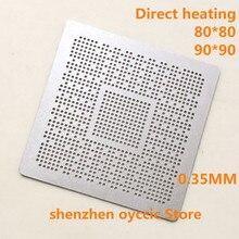 ความร้อนโดยตรง 80*80 90*90 ODNX02 A2 ODNX02 A2 0.35 มม.BGA Stencil แม่แบบ