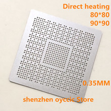 ישיר חימום 80*80 90*90 ODNX02 A2 ODNX02 A2 0.35MM BGA סטנסיל תבנית