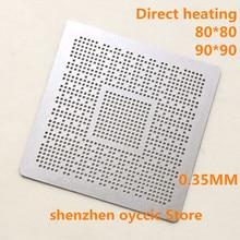 Directe Verwarming 80*80 90*90 ODNX02 A2 ODNX02 A2 0.35 Mm Bga Stencil Template