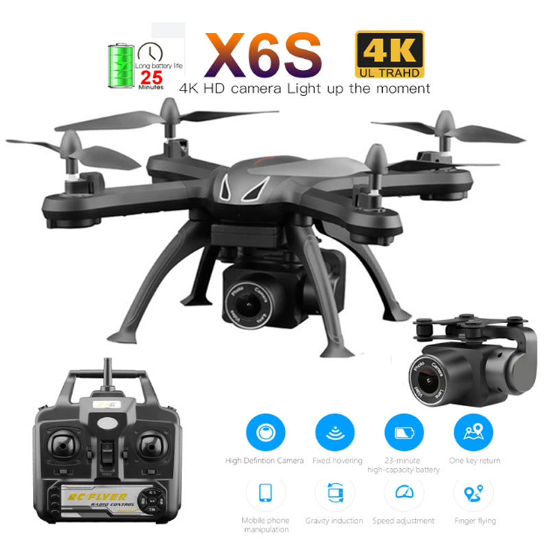 Drone 4K/1080p X6S Devil HD Camera Quadcopter 25minutes Long Flight Time Fpv Drones With Camera Hd Rc Aerial Airplane Aircraft