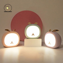 Cute Pet Night Light Deer Bunny Nursey Light For Kid Baby Stepless Touch USB Rechargeable Table Lamp Home Decoration