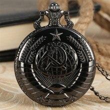 Hammer Pendant-Watch Necklace Gifts USSR Exquisite-Collection Vintage Black/silver Quartz