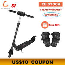 [Europe Stock] KUGOO S1 Folding Electric Scooter 350W 30KM/H 30KM Motor LCD Display Screen 8.5 Inches Tire Adult Scooter(China)