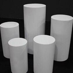 Socle en fer blanc à cylindre rond | Décoration artistique, piliers à plinthes, décoration bricolage de mariage