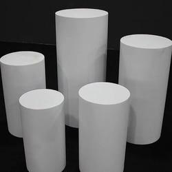 Weiß Eisen Runde Zylinder Sockel Stand Art Decor Plinths Säulen DIY Hochzeit Dekoration