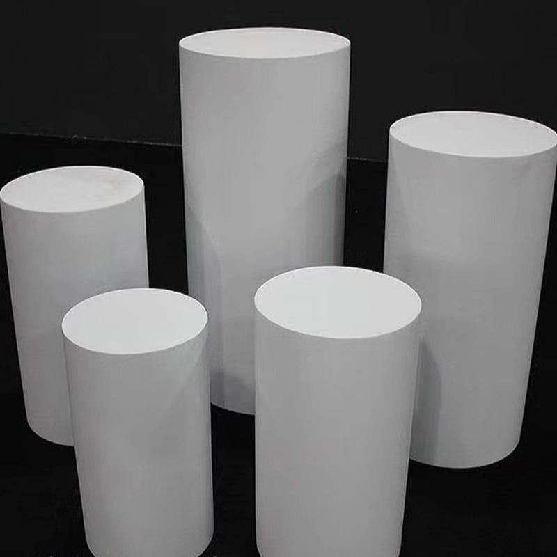 White Iron Round Cylinder Pedestal Stand Art Decor Plinths Pillars DIY Wedding Decoration