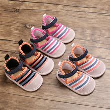 Baby Girl Summer Sandals Cute Non-Slip Infant Toddler Sandals National Style Breathable Baby Slippers for Girls Sofe Sole Shoe