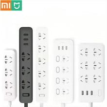 Oryginalna inteligentna listwa zasilająca Xiaomi Mijia 3 2A szybkie ładowanie portów USB + 3 gniazda Xiaomi Xiaom MI inteligentny dom czarny z adapterem