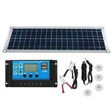 30 Вт двойной USB Гибкая солнечная панель комплект+ 40A контроллер+ зажим для наружного автомобильного зарядного устройства