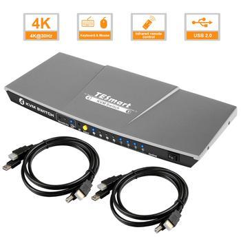 HDMI KVM Switch 4 Port Free Shipping   USB KVM HDMI Switch Support 3840*2160/4K*2K Extra USB2.0 Port d lin k dkvm 4k 4 port kvm
